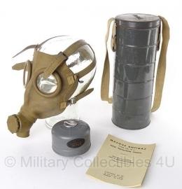 Gamasker met tas - origineel Belgische  leger - Masque antigaz Type AG15 - origineel 1935