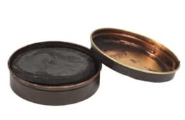 Nederlands leger bruine schoensmeer lederonderhoudsmiddel bruin 100 gram - NIEUW in blik- origineel