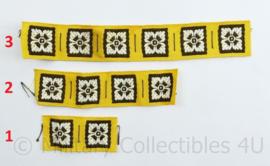WW2 British shoulder ranks pip Royal Armoured Corps Regiment yellow - per 2, 4 of 6 stuks - origineel