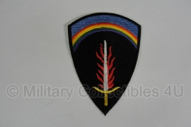WWII US SHAEF patch - black