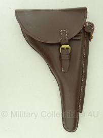 Holster Luger P08 met lange loop - bruin leer