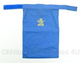 KL Nederlandse leger halssjaal - regiment JWF Johan Willem Friso - blauw - 34,5 x 22,5 x 0,2 cm - origineel
