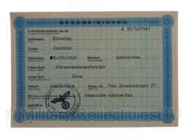 Stalag tewerkstelling - Nederlandse krijgsgevangene - Jacobus Blesing Amsterdam