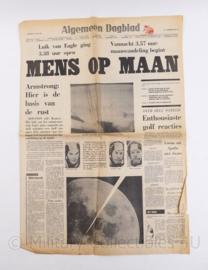 Zeldzame collectible krant Algemeen Dagblad 21 juli 1969 De mens op de maan - origineel