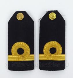 """KM Koninklijke Marine schouder epauletten met rang """"Luitenant ter Zee der 3e klasse"""" - afmeting 6 x 13 cm - origineel"""