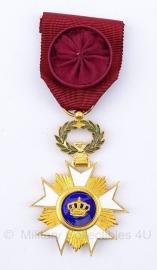 """Belgische """"Ridder kroonorde"""" goude medaille - Origineel"""