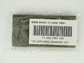 Korps Mariniers Korporaal Mariniers GVT rangen set - mint in de verpakking