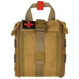 Medische tas geneeskundige dienst BLS IFAK Bag MOLLE - SMALL  - 16 x 18 x 8 cm. - nieuw gemaakt - COYOTE
