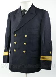 Marine uniform jas 1972 Kapitein Luitenant - hoge rang - lengte 166 cm. en borstomtrek 104 cm.   - origineel
