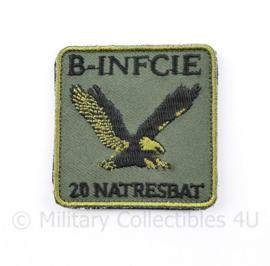 KL Nederlandse leger B INFCIE 20 NATRESBAT 20 Natresbataljon borstembleem - met klittenband - 5 x 5 cm - origineel
