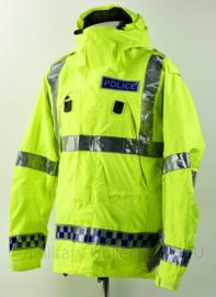 Britse Politie Police geel jack met capuchon en portofoonhouders - maat Small - nieuw - origineel