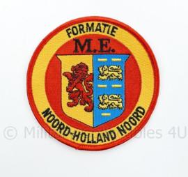 Formatie M.E. Mobiele Eenheid Noord Holland Noord embleem - diameter 10 cm - origineel