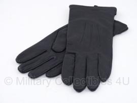 KL handschoenen met voering -  glad model -  zwart leer - maat 6,5 tm. 10 - origineel