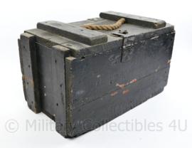 Vintage militaire houten kist - 25 x 25 x 45 cm - origineel