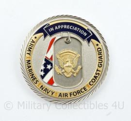 Coin US Lenaj in Appreciation of US Forces  - diameter 4,5 cm - origineel