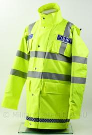 Britse Politie Police Hertfordshire Constabulary gevoerd fluor geel jack - Maat L -  origineel