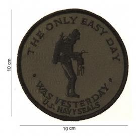"""Embleem """"stof Navy Seals groen"""" - diameter 10 cm."""