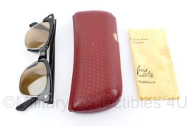 Zonnebril met brillendoosje gebruikt door Machinist van de Spoorwegen NS - glazen krasvrij - 15 x 6 x 2 cm - origineel