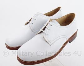"""KM Koninklijke Marine Tropen schoenen wit """"Defensie"""" Leren zool , rubber inzet- zeldzaam - nieuw  - maat 42 tm. 44 !  - origineel"""