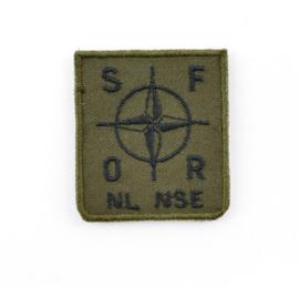 KL Nederlandse leger NL NSE Nederlands National Support Element borstembleem - met klittenband - 5 x 5 cm - origineel