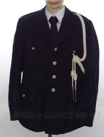KMAR Koninklijke Marechaussee (Schalkhaar model) of Politie jaren '50 uniform SET jas, overhemd en stropdas - met origineel koord - maat - origineel