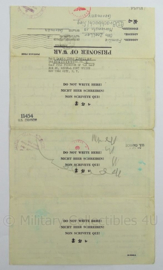 WO2 Duits dokument POW Prisoner of War 1944 - afmeting 35,5 x 20 cm - origineel