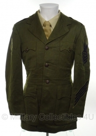 USMC US Marine Corps uniform 16 jaar in dienst - size 38L - rang Chief patty officer - zeldzame Navy uitvoering!