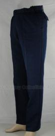 Kmar Marechaussee politie lange broek BLAUW, met ZWARTE bies - maat 90  x 94 cm. - 75% wol - 1986 - origineel