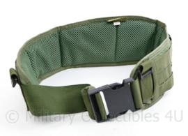 Defensie en Korps Mariniers groene profile Equipment MOLLE belt - maat M - als nieuw - origineel