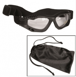 Tactical commando Air Pro bril - helder glas -  zwart