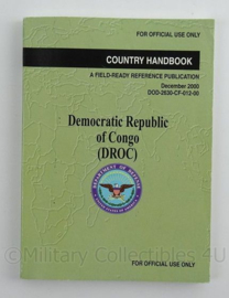 US Army Country Handbook DROC Democratic Republic of Congo uit 2000 - afmeting 18 x 13 cm - origineel