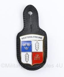 Bundeswehr borsthanger western-freund - 9 x 4 cm - origineel