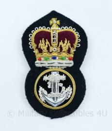 Britse Marine Royal Navy cap badge metaaldraad - 8,5 x 5 cm - origineel