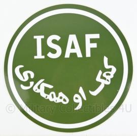 Defensie ISAF voertuig sticker - ongebruikt - diameter 28 cm - origineel