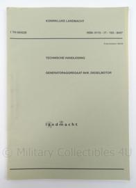 KL Landmacht Technische Handleiding TH004228 - Generatoraggregaat 6kw dieselmotor - afmeting 30 x 21 cm - origineel