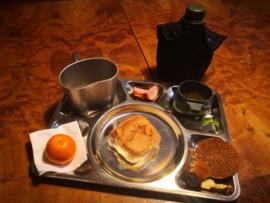 Messplate met Veldfles set en opvouwbare drinkbeker