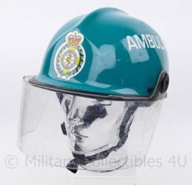 Mersey Regional Ambulance Service Rescue helm - blauw/groen - verstelbaar maat 54 - 62 cm  - origineel