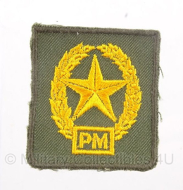 KL Nederlands leger schuttersembleem - PM Pistool Mitrailleur - origineel
