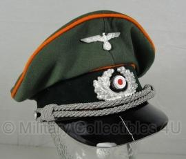 Schirmmütze Polizei Feldgendarmerie - gabardine - 58 of 60 cm.