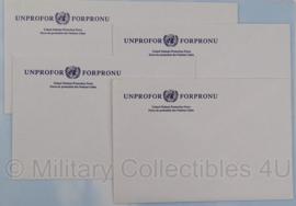 UNPROFOR enveloppen set van 4 stuks - Origineel