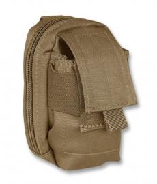 Gevoerde koppel tas voor mobiel etc. - Molle draagsysteem - 13x7x5cm - Coyote