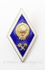 Oekraïens leger DNIPRO Technical University speld blauw met goud kleurig - 5 x 3 cm -  origineel