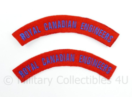 WO2 WW2 Royal Canadian Engineers shoulder title pair
