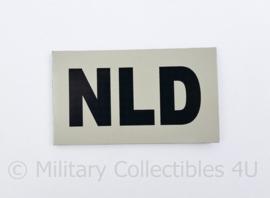 Defensie NLD embleem - met klittenband - 9 x 5 cm - origineel