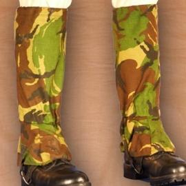 Gaiters Britse leger met staalkabel onder de voet - Goretex - DPM camo - origineel
