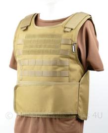 NL Politie DSI Speciale Eenheden COYOTE universeel kogelwerende vest hoes zonder ballistische inhoud - XS t/m XXL - met klittenband voor tekststrook voor EN achter - replica