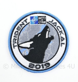 NATO OTAN en Defensie Operation Trident Jackal 2019 embleem - met klittenband - diameter 9 cm