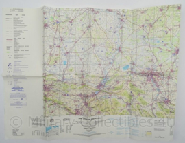 Leger Topografische kaart Hannover Joint Operations Graphic (air) 1:250 000 - 74 x 56 cm - origineel