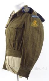 """MVO uniform jas Kavallerie """"van Sytzama"""" - met baret en insigne - maat 48 - origineel"""