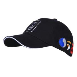 Baseball cap - black - D day uitvoering - met patches van alle divisies